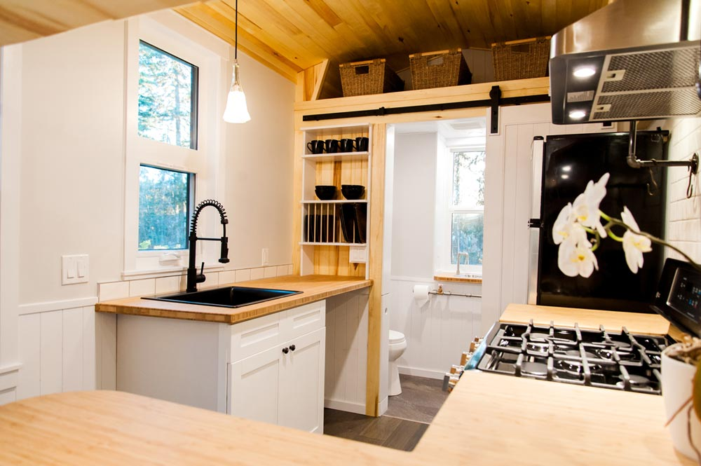Bamboo Kitchen Counters - Aspen by Borealis Tiny Homes