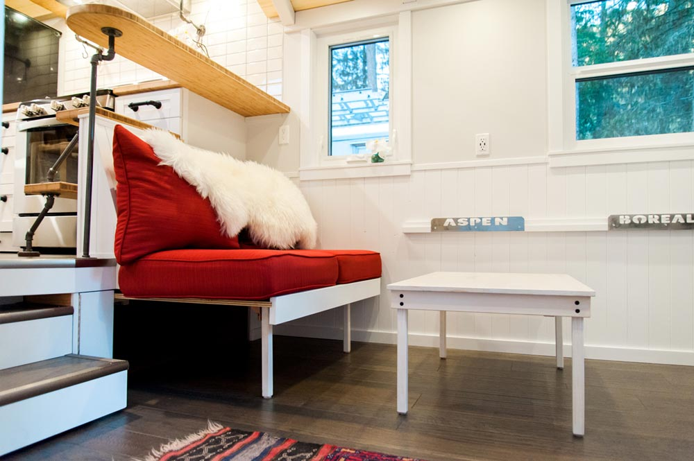 Built-In Couch - Aspen by Borealis Tiny Homes