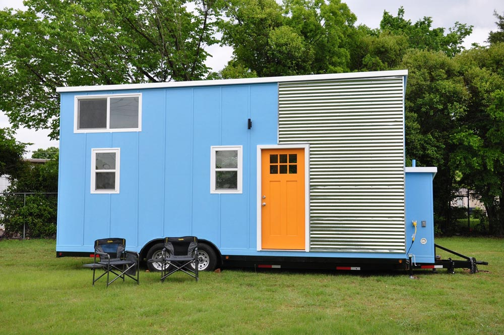 Lightweight Tiny House - Baby Blue by Indigo River Tiny Homes