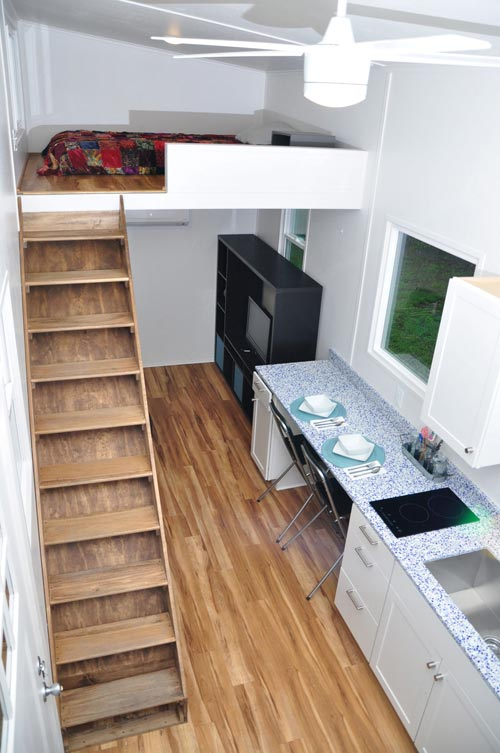 Aerial View - Baby Blue by Indigo River Tiny Homes