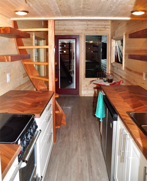 Galley Kitchen - Big Blue by Indigo River Tiny Homes