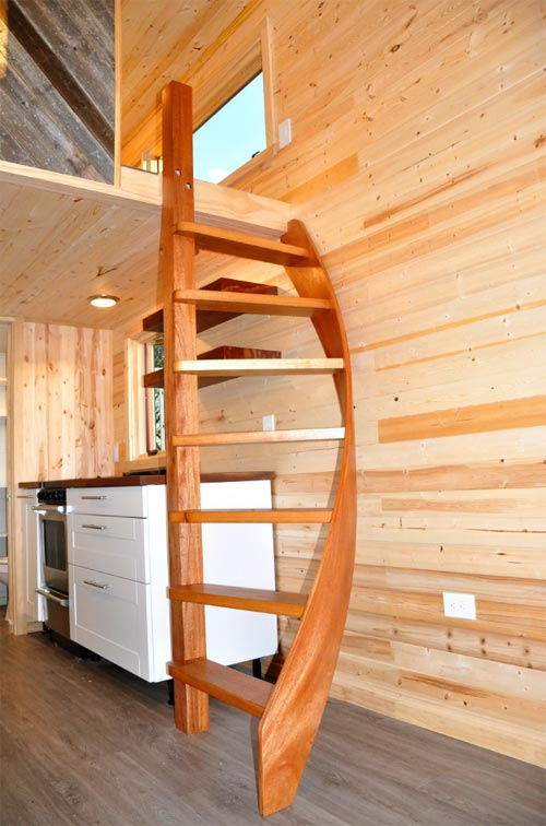 Spiral Ladder - Big Blue by Indigo River Tiny Homes