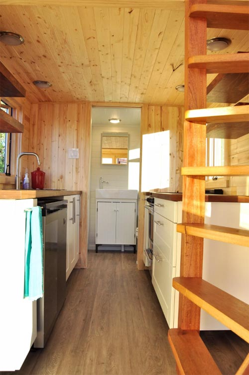 Kitchen & Bathroom - Big Blue by Indigo River Tiny Homes