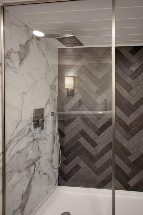Herringbone Shower - Breezeway by Tiny Heirloom