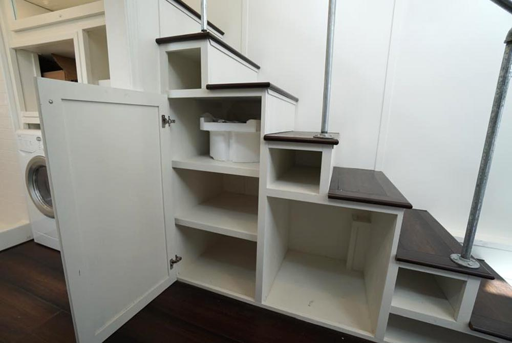 Storage Stairs - Cape Cod Cottage by California Tiny House