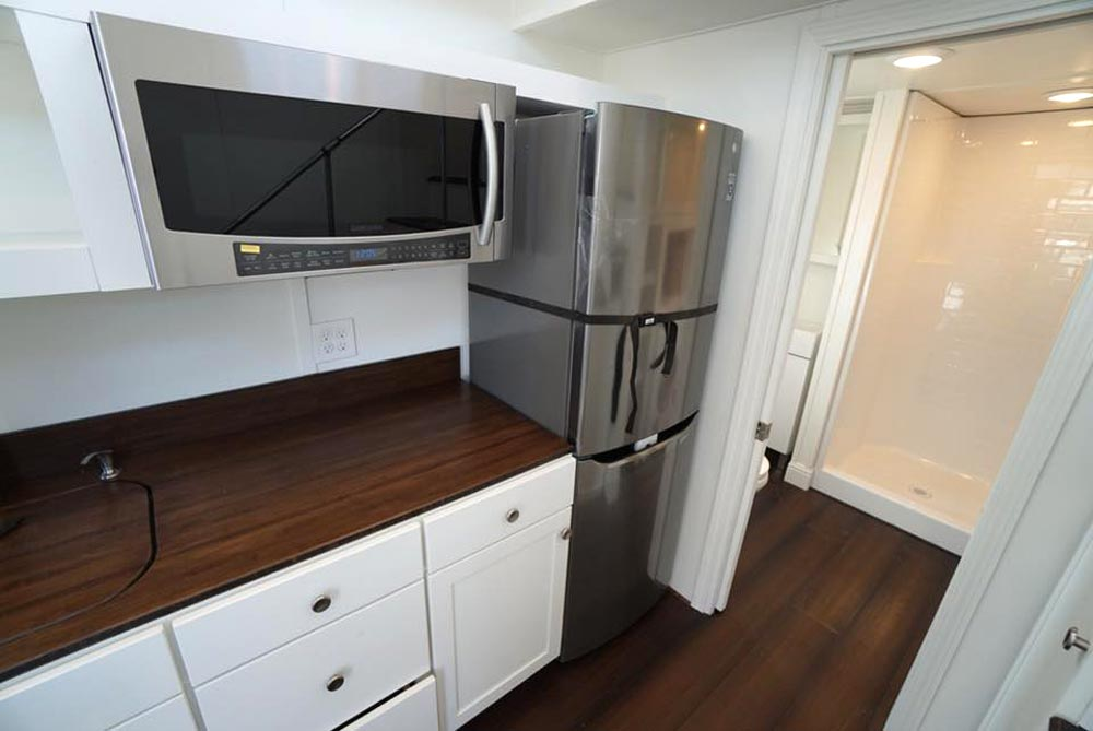 Apartment Size Refrigerator - Cape Cod Cottage by California Tiny House