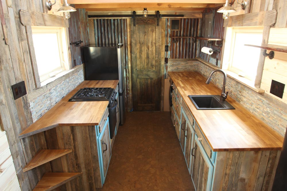 Butcher Block Counters - JJ's Place by SimBLISSity Tiny Homes