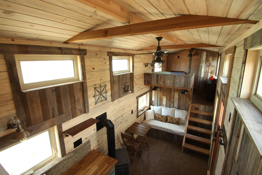 Living Room & Loft - JJ's Place by SimBLISSity Tiny Homes