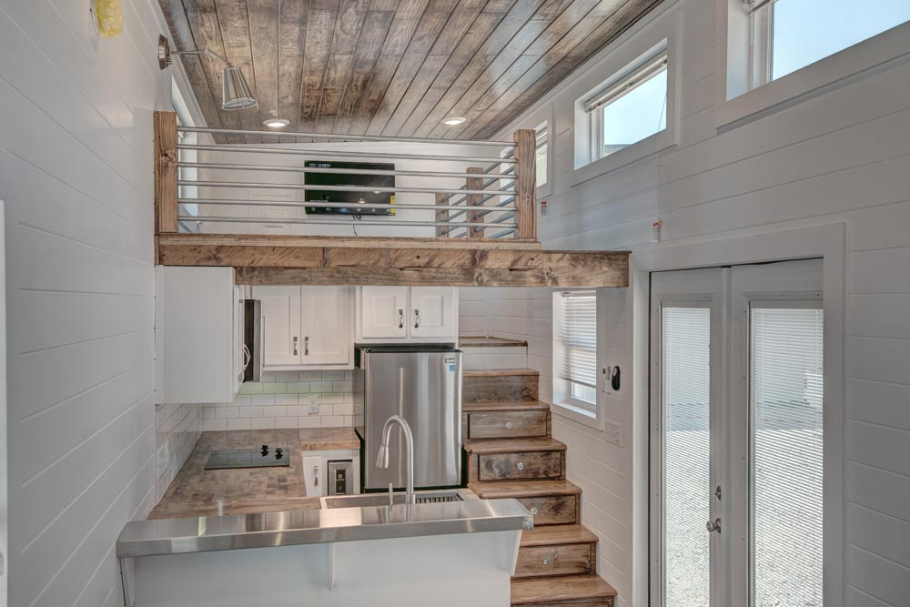 Kitchen & Loft - Journey by Alabama Tiny Homes