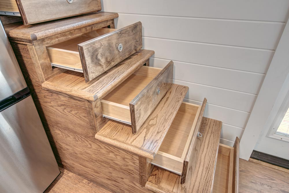 Storage Stairs - Journey by Alabama Tiny Homes