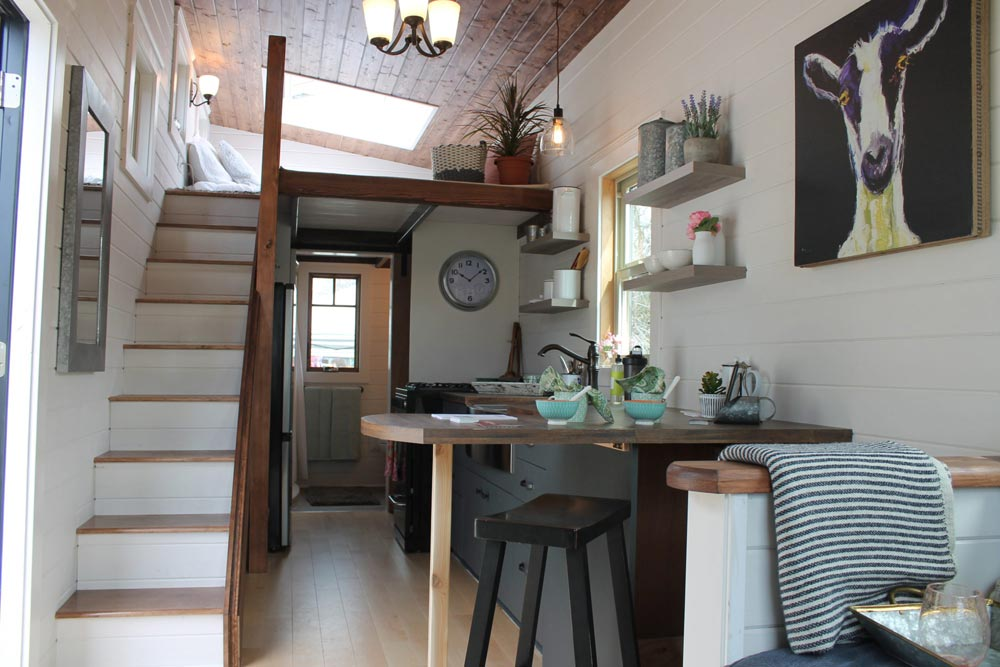Fold Away Eating Island - Monarch by Canadian Tiny Homes