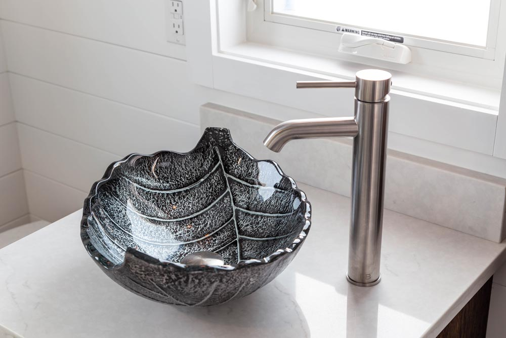Leaf Vessel Sink - Modern Take Four by Liberation Tiny Homes