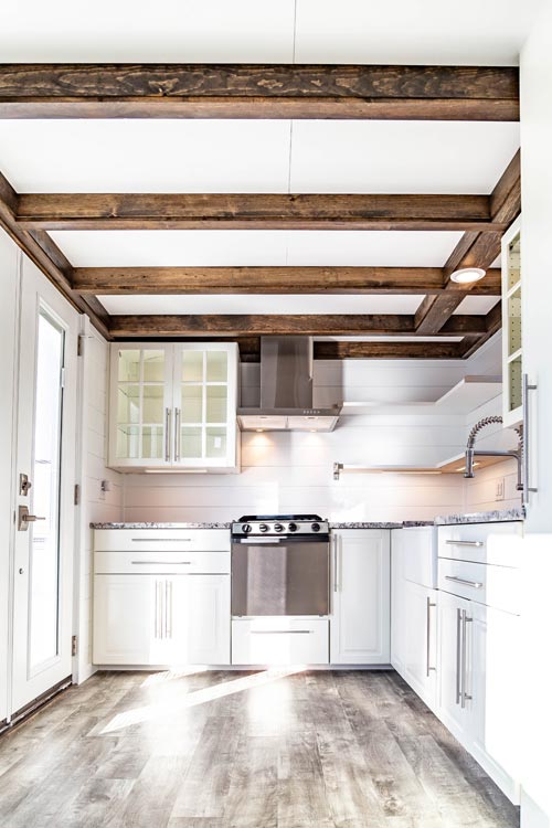 Box Beam Ceilings - Modern Take Four by Liberation Tiny Homes