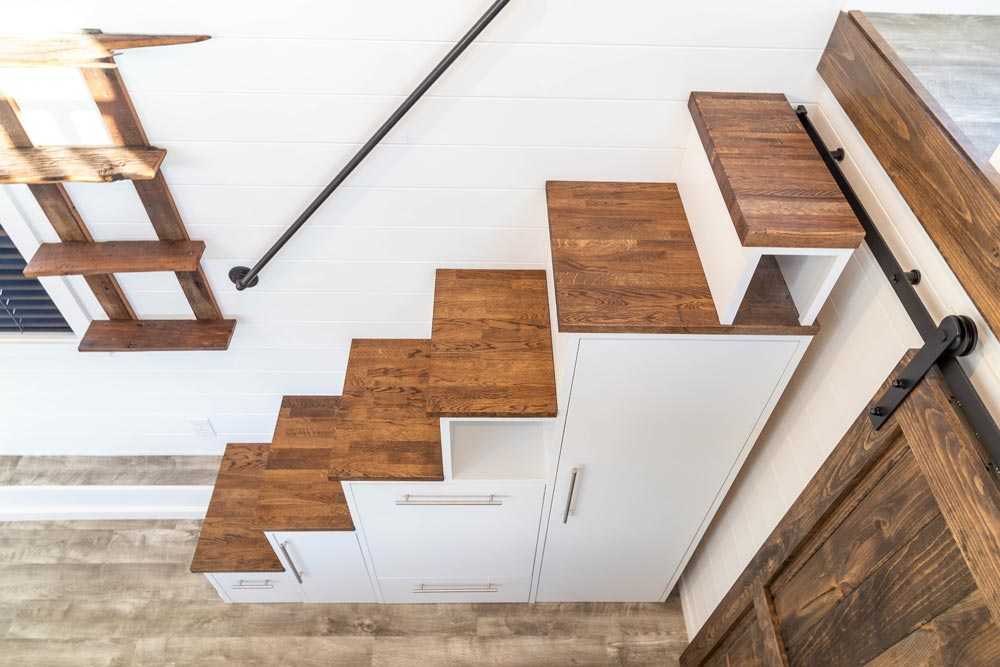 Storage Stairs - Modern Take Four by Liberation Tiny Homes