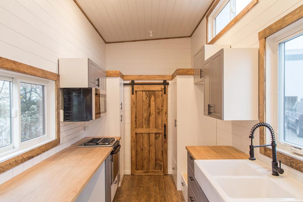 Galley Kitchen - Modern Take Three by Liberation Tiny Homes