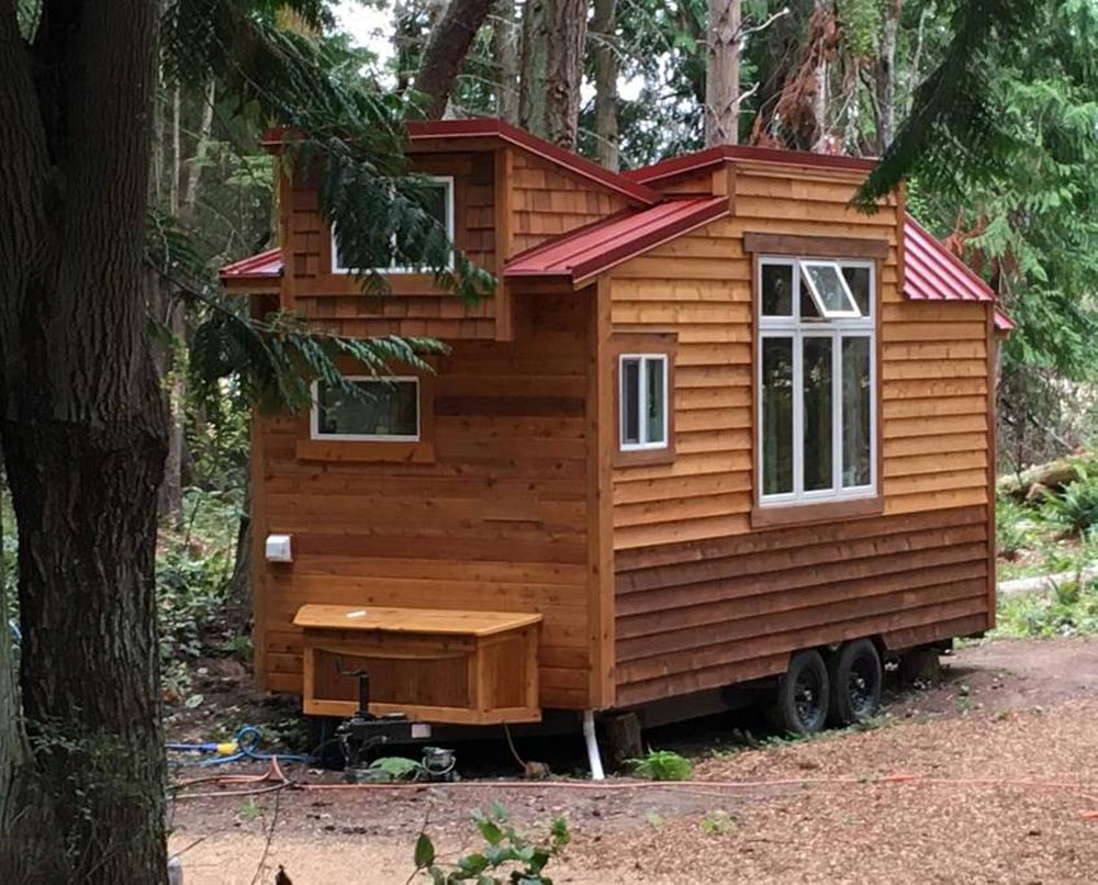 Cedar Exterior - Unique Craftsmen Tiny House