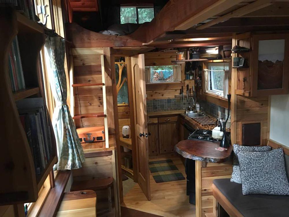 Kitchen & Bathroom - Unique Craftsmen Tiny House
