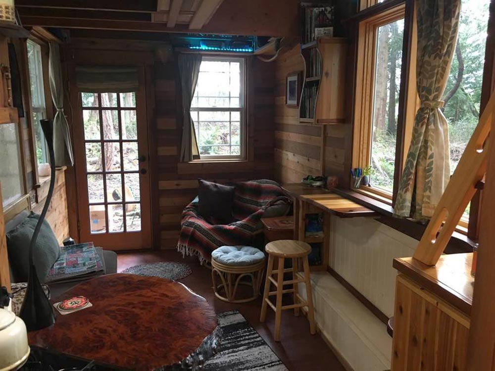 Living Room - Unique Craftsmen Tiny House