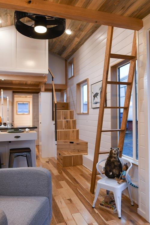 Hickory Flooring - Urban Kootenay 28' w/ XL Dormer by TruForm Tiny