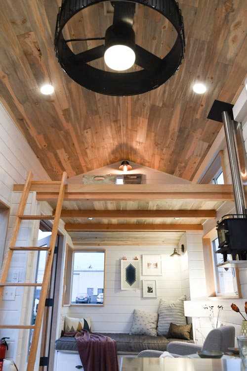 Blue Stain Ceiling - Urban Kootenay 28' w/ XL Dormer by TruForm Tiny