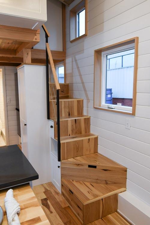 Storage Stairs - Urban Kootenay 28' w/ XL Dormer by TruForm Tiny