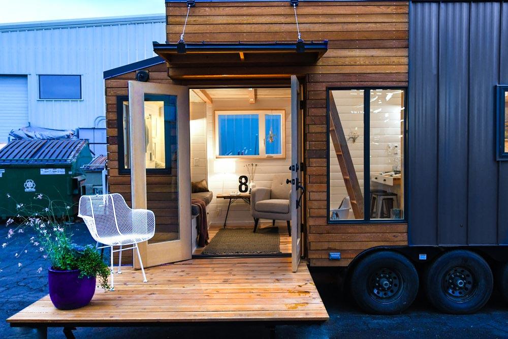 Drop Down Deck - Urban Kootenay 28' w/ XL Dormer by TruForm Tiny