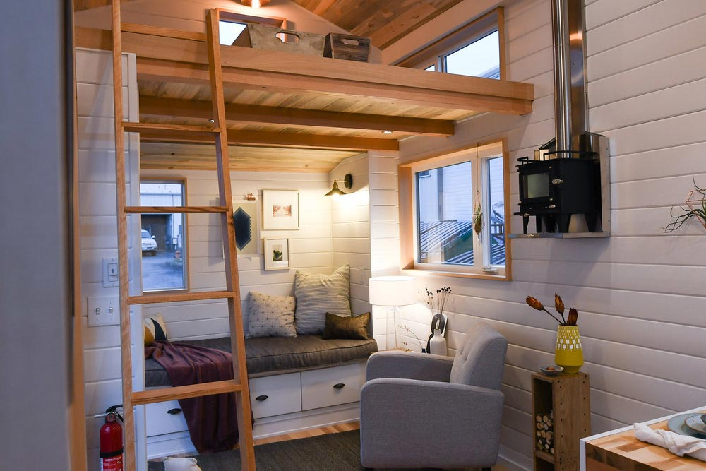 Living Room - Urban Kootenay 28' w/ XL Dormer by TruForm Tiny