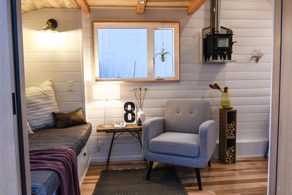 Sitting Area - Urban Kootenay 28' w/ XL Dormer by TruForm Tiny