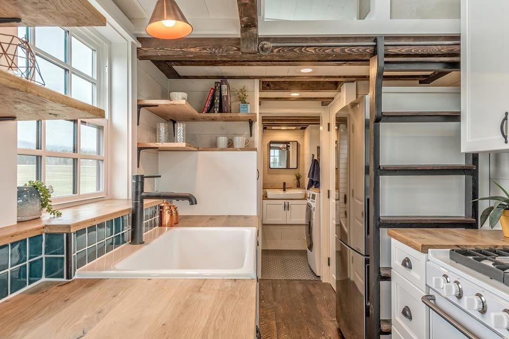 Oak Counters - West Coast by Summit Tiny Homes