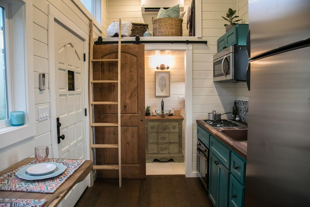 Kitchen & Bathroom - Archway Tiny Home by Tiny Heirloom