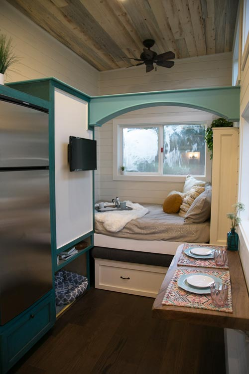 Main Floor Bed - Archway Tiny Home by Tiny Heirloom
