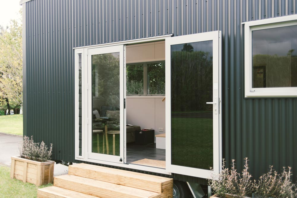 French Doors - Buster Tiny House by Build Tiny