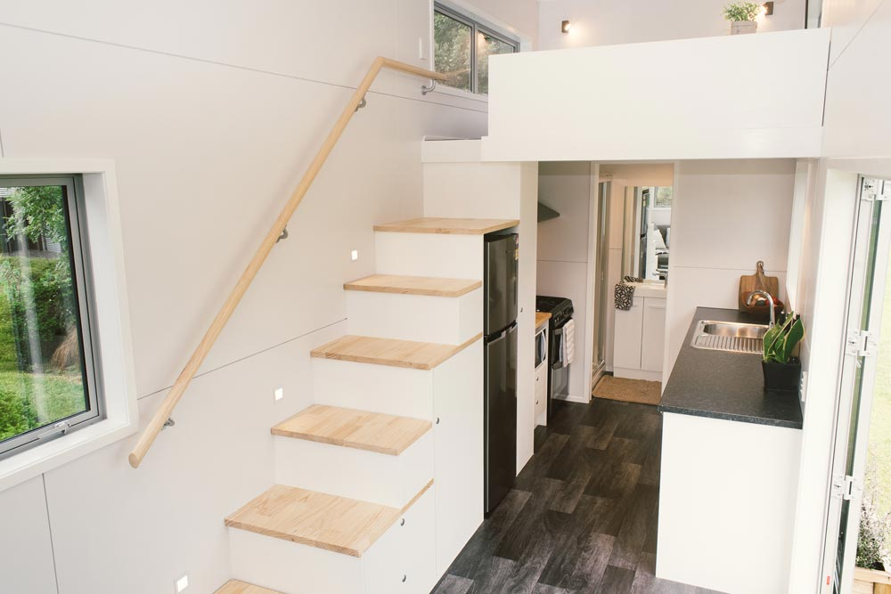 Storage Stairs - Buster Tiny House by Build Tiny