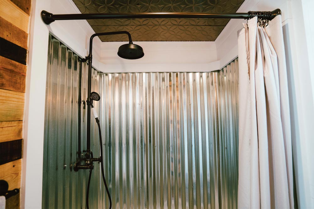 Corrugated Metal Shower - City by Alternative Living Spaces