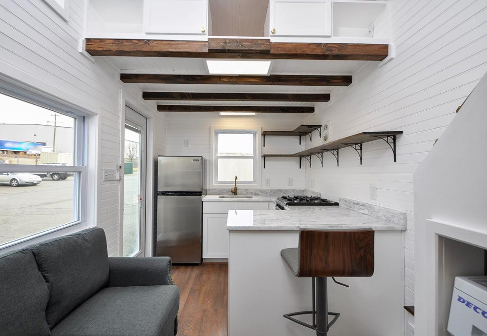 Box Beam Ceiling - Edsel by Tiny House Building Company