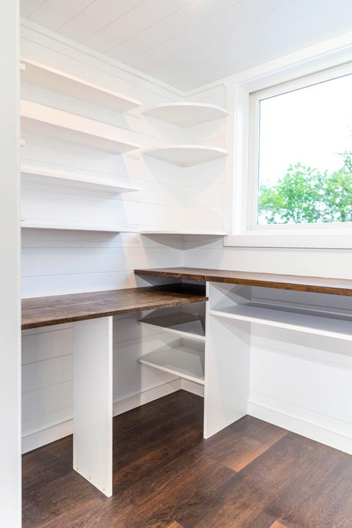 Office Desk & Shelves - Modern One by Liberation Tiny Homes