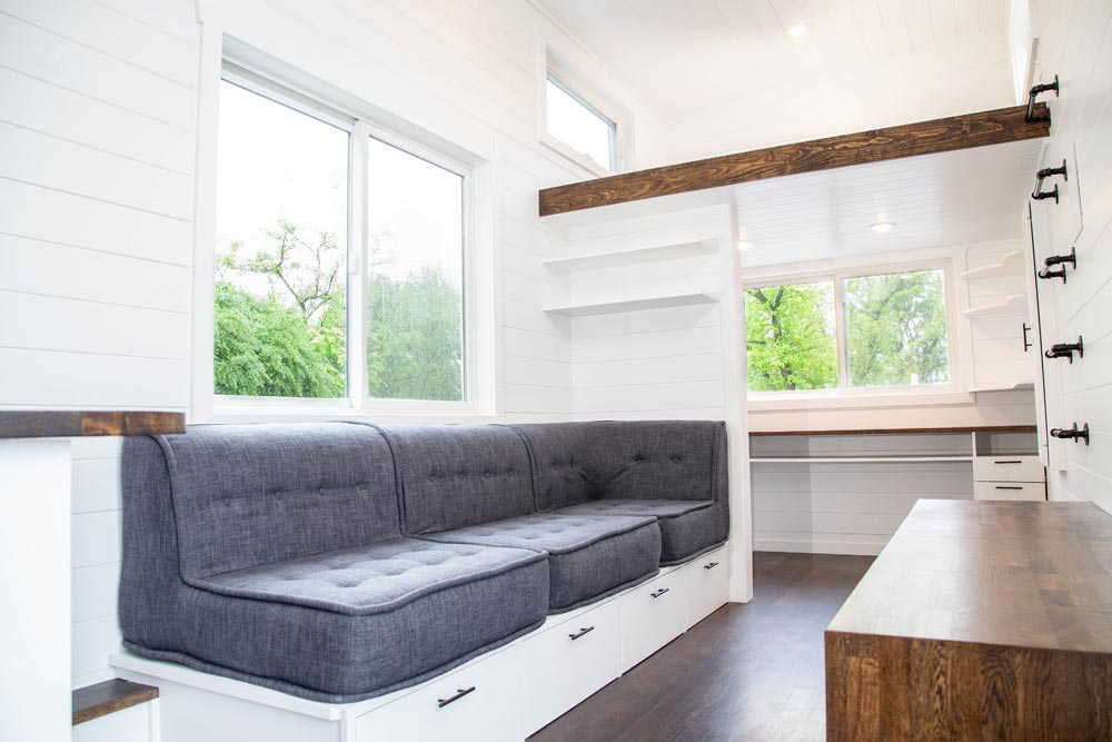 Built-In Couch - Modern One by Liberation Tiny Homes