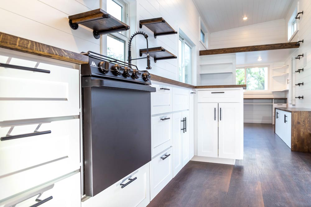 White Cabinets - Modern One by Liberation Tiny Homes