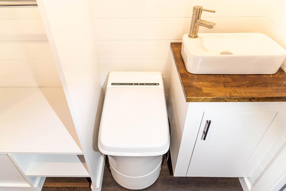 Composting Toilet - Modern One by Liberation Tiny Homes