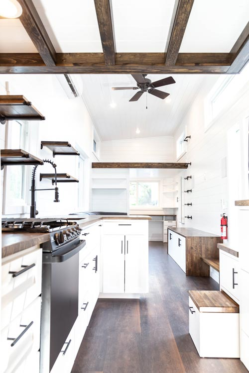 Kitchen & Living Room - Modern One by Liberation Tiny Homes