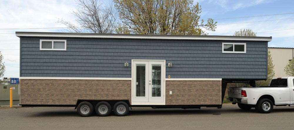 Lightweight Stone Exterior - Olivia by Tiny House Building Company