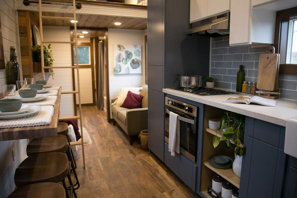 Kitchen & Living Room - Tiny Traveling Dream Home by Tiny Heirloom