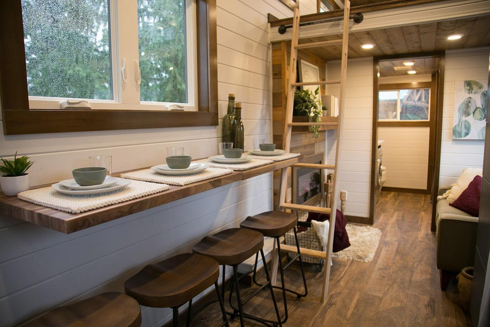 Fold Down Dining Table - Tiny Traveling Dream Home by Tiny Heirloom