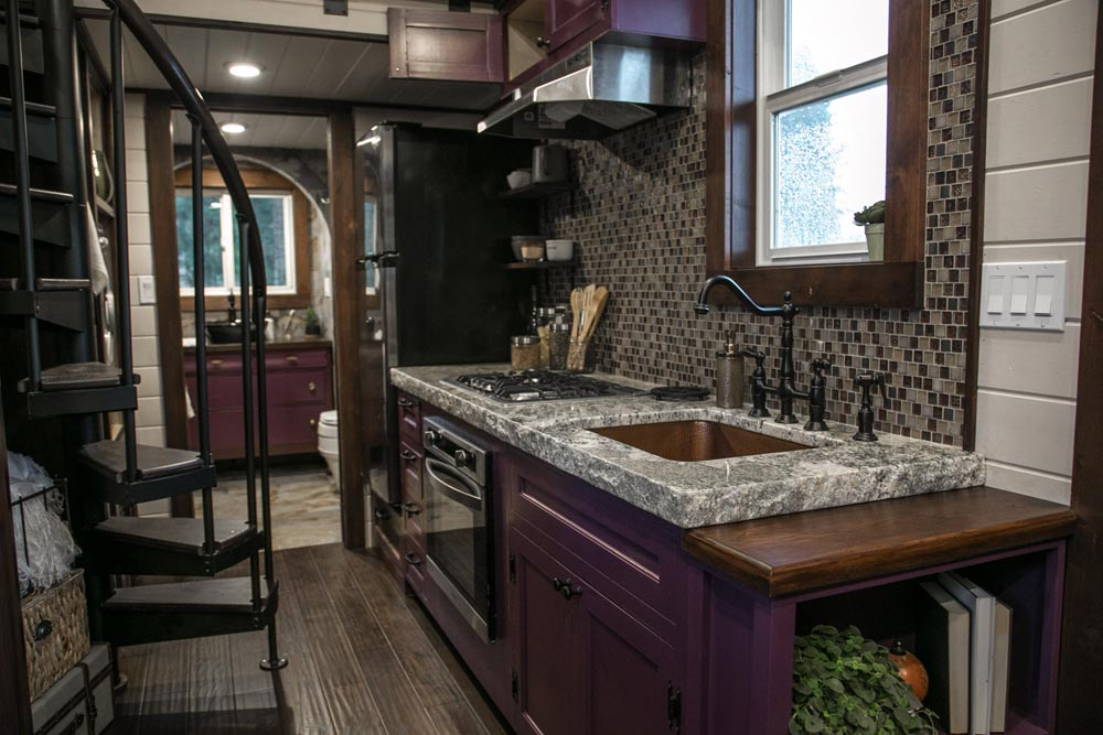Royal Purple Cabinets - Tudor House by Tiny Heirloom