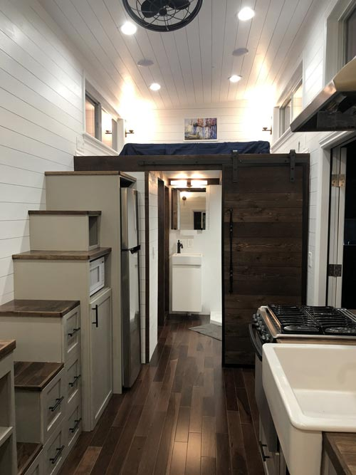 Stairs & Loft - White House by Sun Bear Tiny Homes