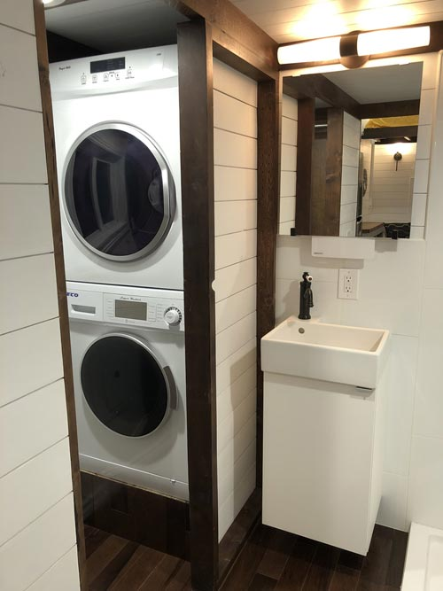 Washer & Dryer - White House by Sun Bear Tiny Homes