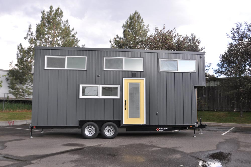 Grey Metal Exterior - White House by Sun Bear Tiny Homes