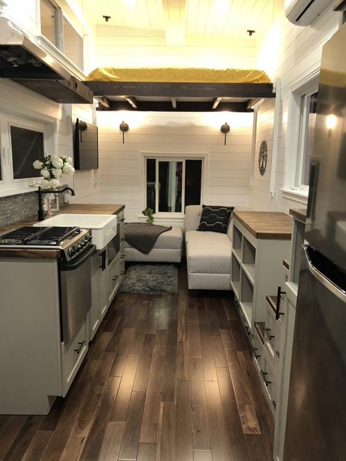Living Area - White House by Sun Bear Tiny Homes
