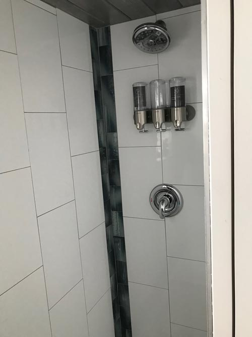 Shower - Serving Window - Beach House by Kamtz Tiny Home Company