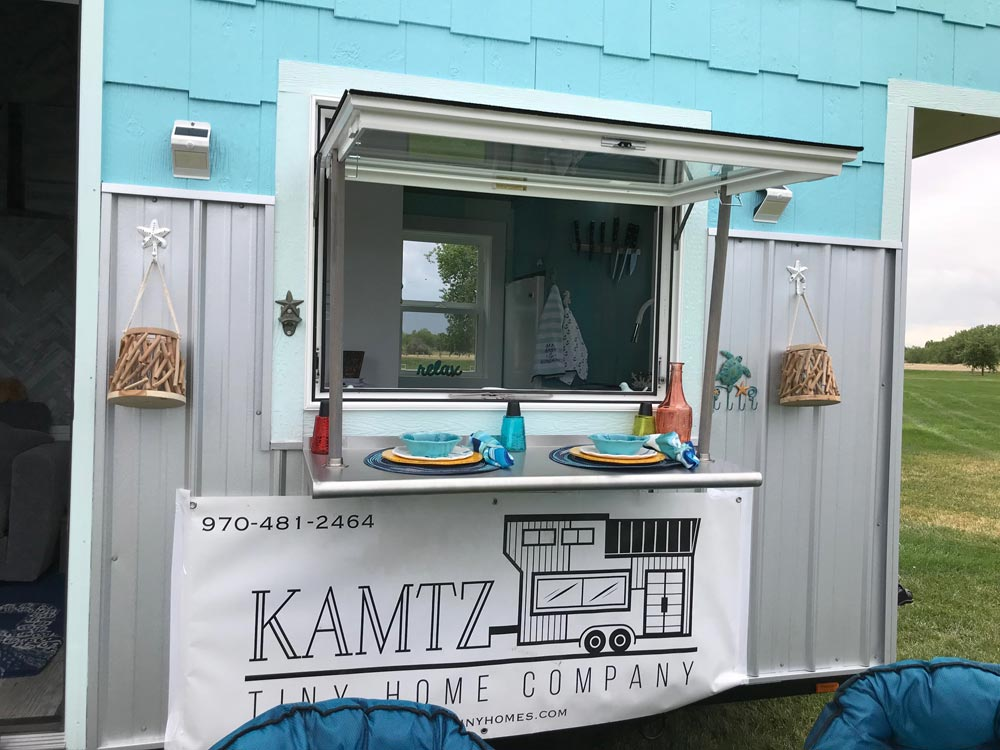 Serving Window - Beach House by Kamtz Tiny Home Company